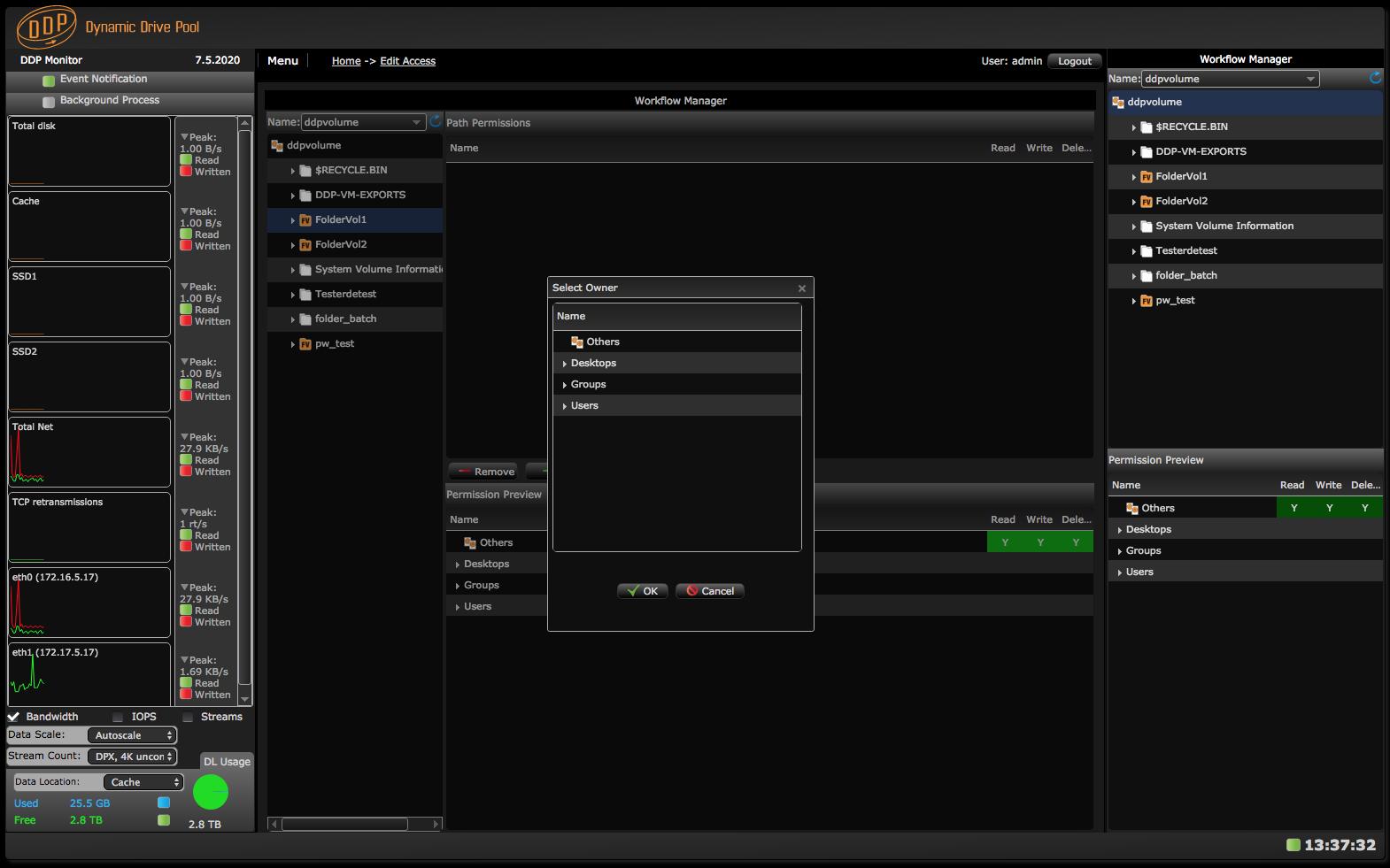 Edit Access screen