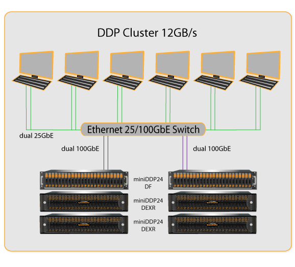 DDP Cluster 12GB/s