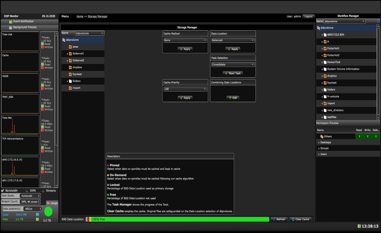 AVFS Balanced Storage Manager screen